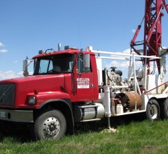 well drilling truck