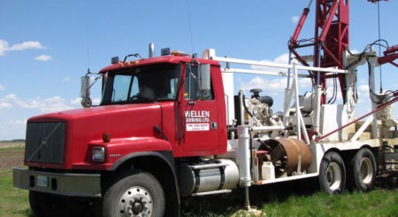 water drilling truck